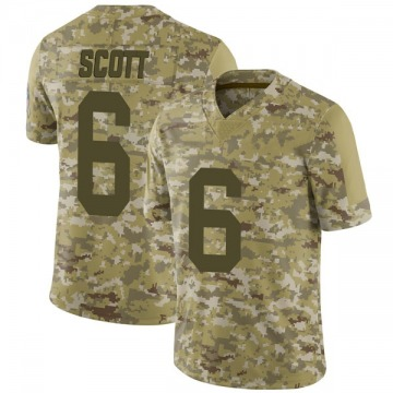 Men's JK Scott Green Bay Packers Nike Limited 2018 Salute to Service Jersey - Camo